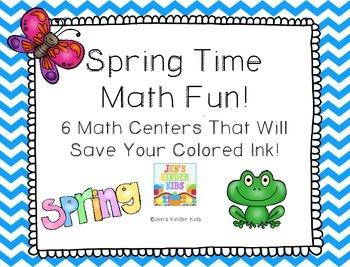 Spring Time Math Fun ~ Ink Saving Math Centers!
