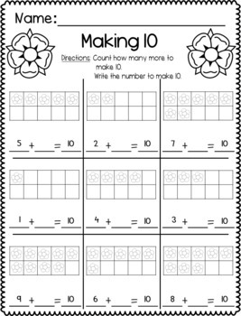 Spring Time Math & Literacy Activities BUNDLE - NO PREP!!!
