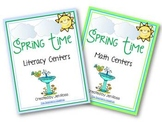 Spring Time Math & Literacy Centers