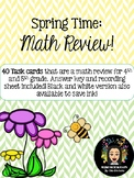 Spring Time Math Review!