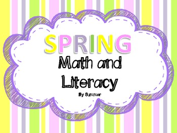 Spring Time Math and Literacy Packet