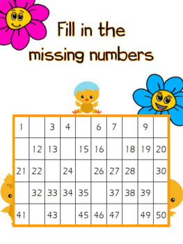 Spring Time- Missing Numbers