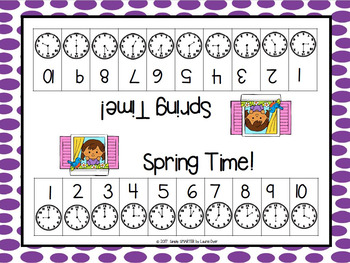 Spring Time!:  NO PREP Time to the Hour Roll and Remove Game