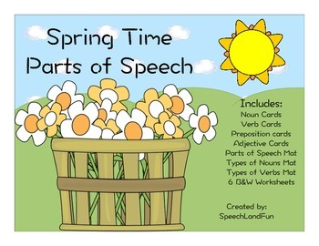 Spring Time Parts of Speech