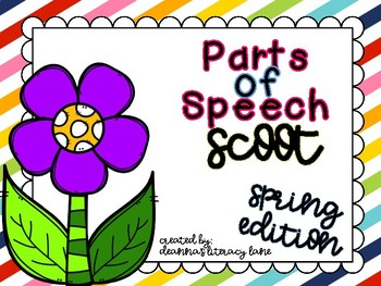 Spring Time Parts of Speech Scoot