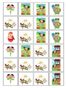 Spring Time Patterning Play Game - Kindergarten Common Core Math Pre-K Patterns