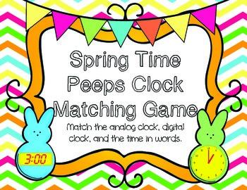 Spring Time Peeps:  A Clock Matching Game