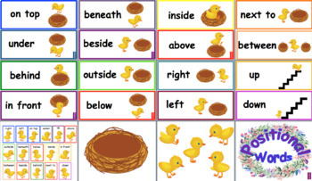 Spring Time Positional Words
