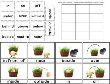 Prepositions Kindergarten or First Grade