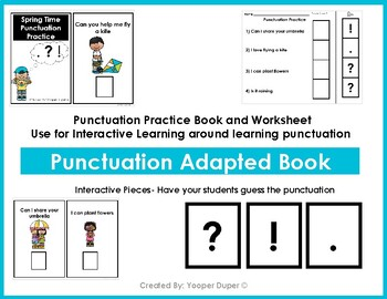 Spring Time Punctuation Practice Adapted Book