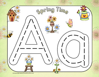 Spring Time Race to Trace Letters (Common Core)