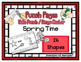 Spring Time - Rain - Flowers - 26 Shapes - Hole Punch Cards / Bingo Dauber Pages