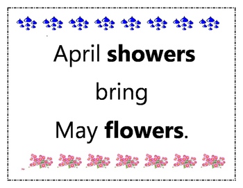 Spring Time Speech Language Rainy Day and Flower Craft