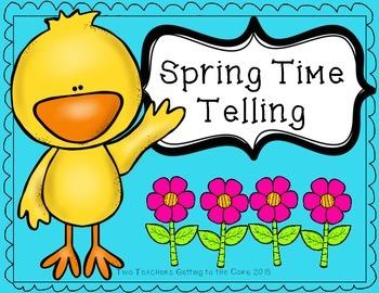 Spring Time Telling Math Center