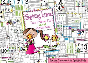 Spring Time Ten Frame Fun Activities and Printables
