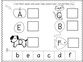 Spring Time Upper and Lower Case Alphabet Match for Pre-k and K Freebie
