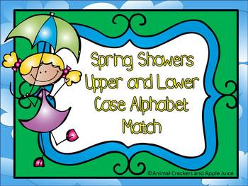 Spring Time Upper and Lower Case Alphabet Match for Pre-k