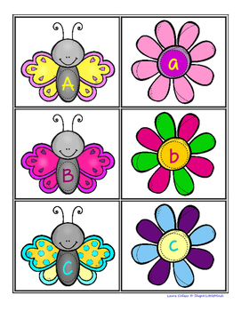 Spring Time! Uppercase and Lowercase Letter Matching