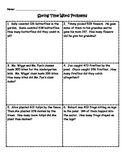 Spring Time Word Problems