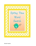 Spring Time Word Search