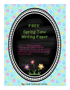 FREE Spring Time Writing Paper