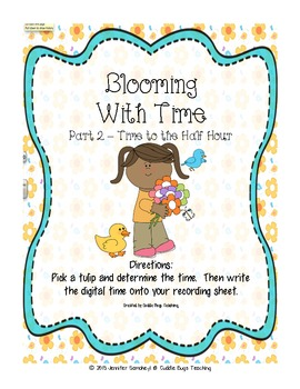 Spring Time Writing and Math Activities