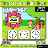 Spring Time to the Half Hour Boom Cards - Digital Distance
