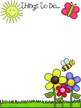 Spring To Do List- Stationery