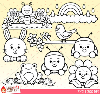 Spring Toppers Clip Art