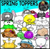 Spring Toppers Clip Art Set {Educlips Clipart}