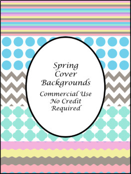 Spring TpT Cover Page Backgrounds-Commercial Use TpT Cover Page