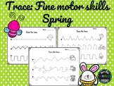 Spring Tracing Fine Motor Skill Activities Trace