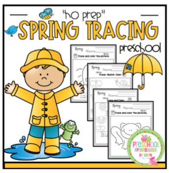 """Spring Tracing Fun """"No Prep"""""""