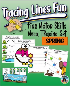 Fine Motor Skills - Tracing Lines Fun  {Spring}
