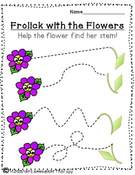 FREE Spring Tracing Printables for Fine Motor Practice