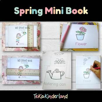Spring Activities: Spring Tracing Words Mini Book  (trace & color)