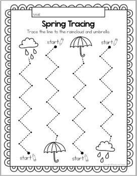 Spring Tracing Worksheets - Preschool Traceable Activities ...