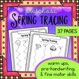 Spring Tracing Worksheets - Preschool Traceable Activities - Trace Fine Motor