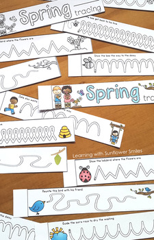 Spring Tracing and Vocabulary Booklet
