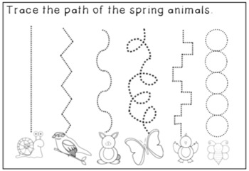 Spring Tracing for Emergent Writers