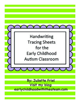 Spring Tracing sheets-Early Childhood Autism Classroom