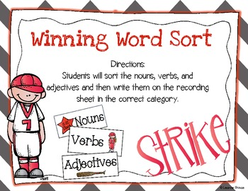 Spring Training! {Baseball Math and Literacy Centers}