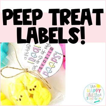 Spring Treat Bag Toppers and Tag