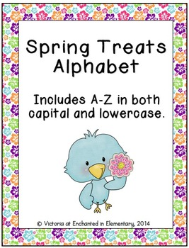 Spring Treats Alphabet! Letter and Sound Recognition Game