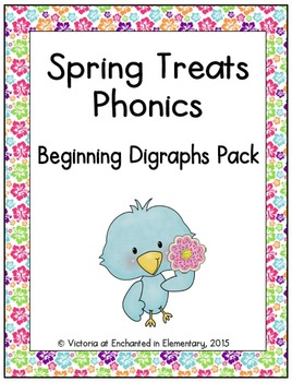Spring Treats Phonics: Beginning Digraphs Pack