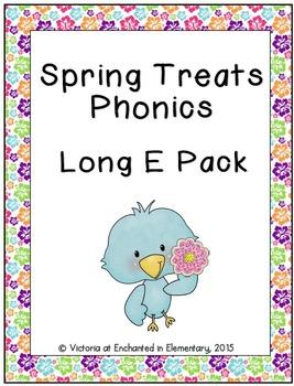 Spring Treats Phonics: Long E Pack