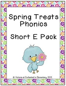 Spring Treats Phonics: Short E Pack