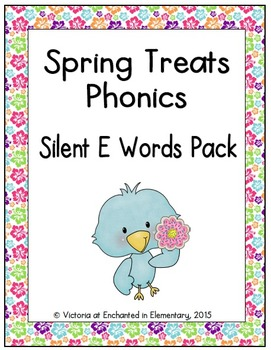 Spring Treats Phonics: Silent E Words Pack