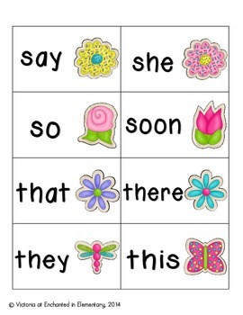 Spring Treats Sight Words! Complete Set of 220 Sight Words