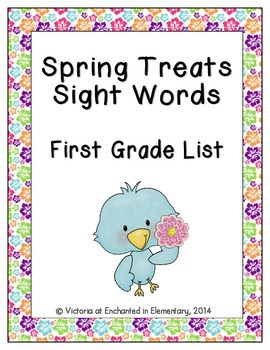 Spring Treats Sight Words! First Grade List Edition